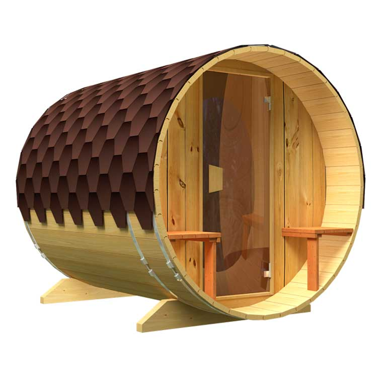 Sale of saunas in Spain, Denia. Standard sauna with glass door.