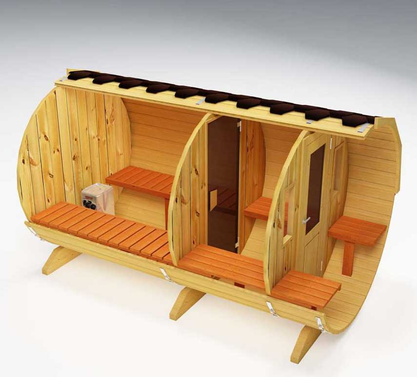 Sauna con horno eléctrico