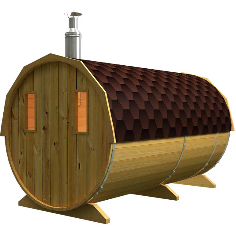 Rear view of the sauna